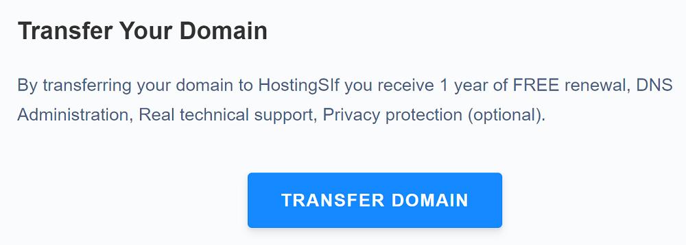 Hosting SSI realiza transferencias de manera muy sencilla, se pueden hacer desde el panel de administración de dominios