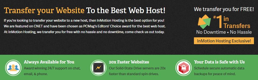 Podréis transferir vuestros sitios web creados por otras compañías de forma gratuita