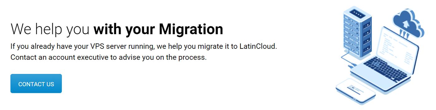 a forma más fácil y rápida de transferir sus sitios, correos y dominios a la plataforma de Latin Cloud Hosting