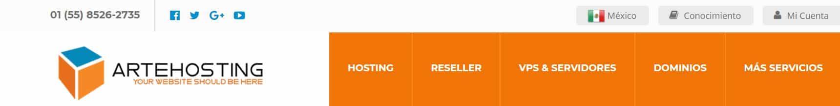 Arte hosting ofrece en sus planes un hosting VPS, compartido y dedicado.