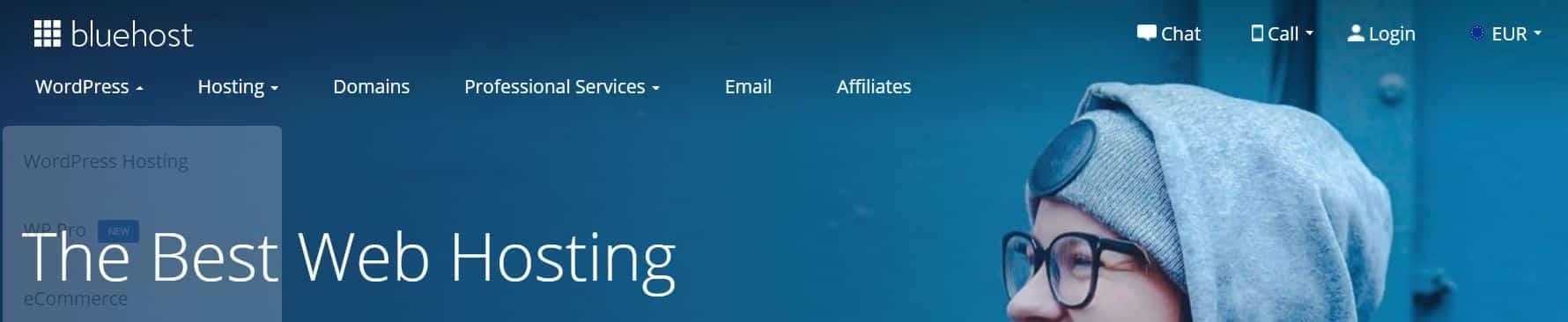 Bluehost es un proveedor de hosting internacional muy bien valorado.
