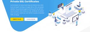 El Certificado SSL de este proveedor no viene incluído en las planes más bajos.