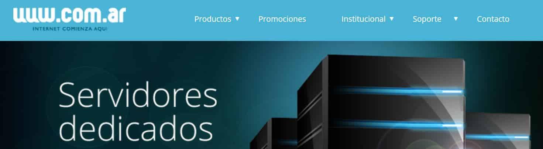 Com.ar es uno de los hosting más utilizados en Argentina