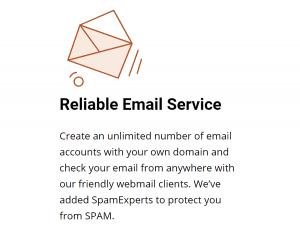 El servicios de Mail de Siteground ofrece varias cuentas de correo.