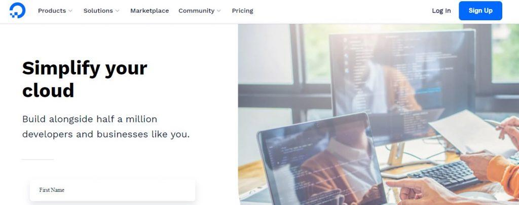 DigitalOcean Hosting Web
