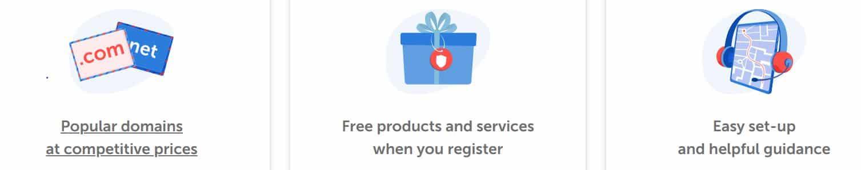 Encontrarás múltiples opciones de hosting y dominios en los pack de los proveedores.