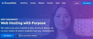 Dreamhost ofrece planes adaptados a sus usuarios con diferentes precios.
