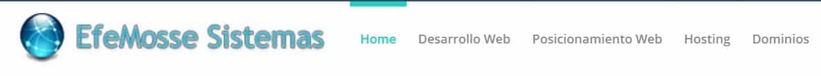 Efemosse sistemas es un hosting dirigido al público argentino.