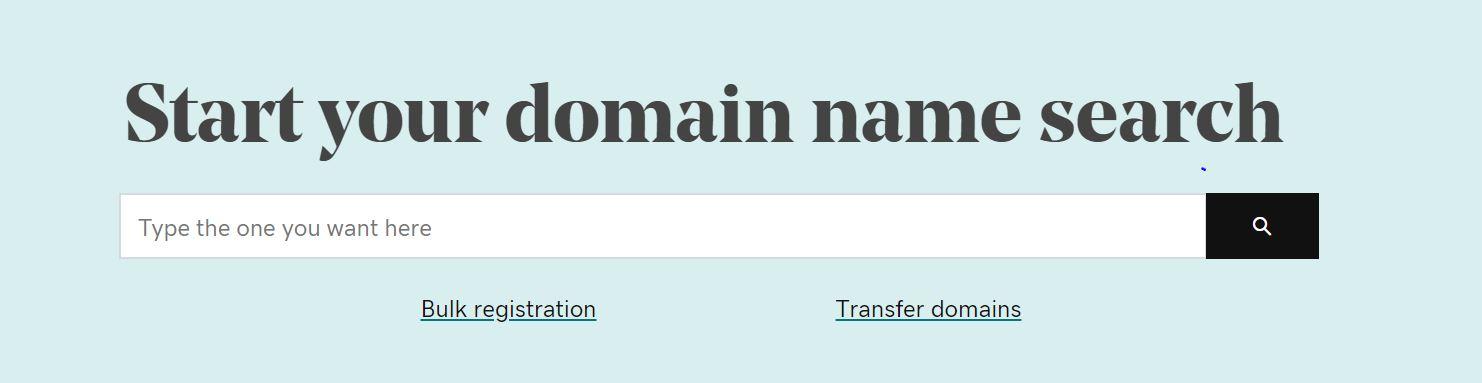 Podrás escoger un nombre de dominio para tu hosting para empresas.