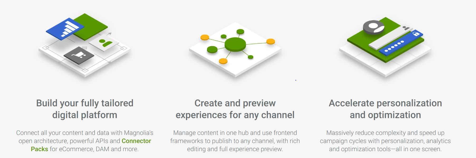 Con Magnolia también optarás a importantes ventajas, como construir sitios webd e forma sencilla.