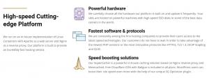 Alguna de las Características del Hosting de este proveedor es variedad de planes.