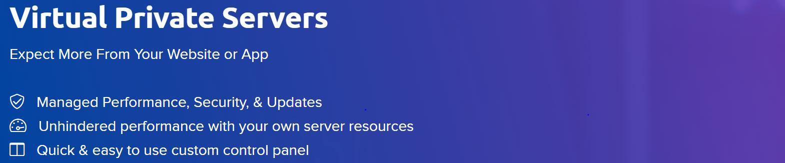 Los servidores privados son útiles para alojar un sitio web.