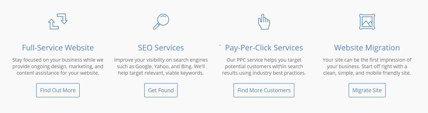 Los proveedores de hosting SEo tienen varios servicio disponibles.,