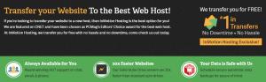 Una de las ventajas de este proveedor es que te permite hacer transferencia de sitios web Inmotion