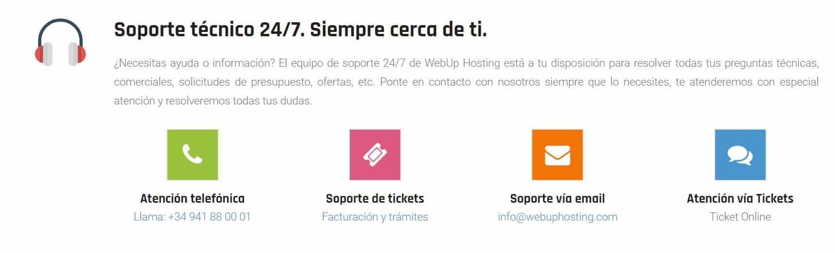 Webup hosting incluye diferentes planes de suscripción.