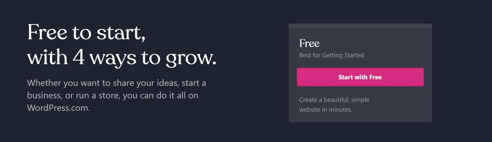 Este CMS ofrece un plan gratis para nuevos usuarios.