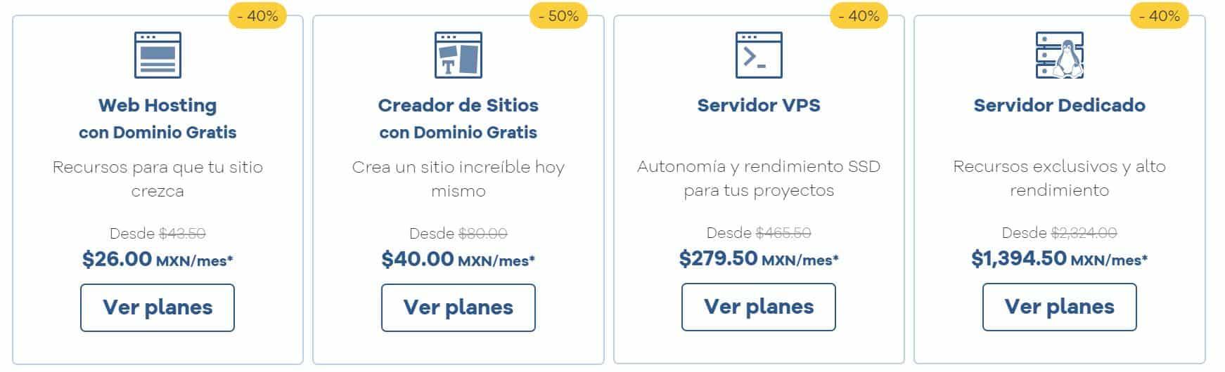 Existen diferentes planes de hosting México adaptados a los usuarios.