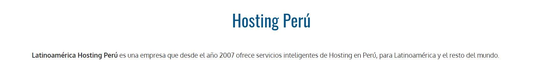 Los hosting Perú son la mejor herramienta para crear tu página web.