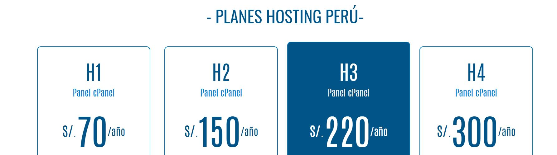 Los planes de hosting Perú tienen diferentes precios adaptados a los usuarios.