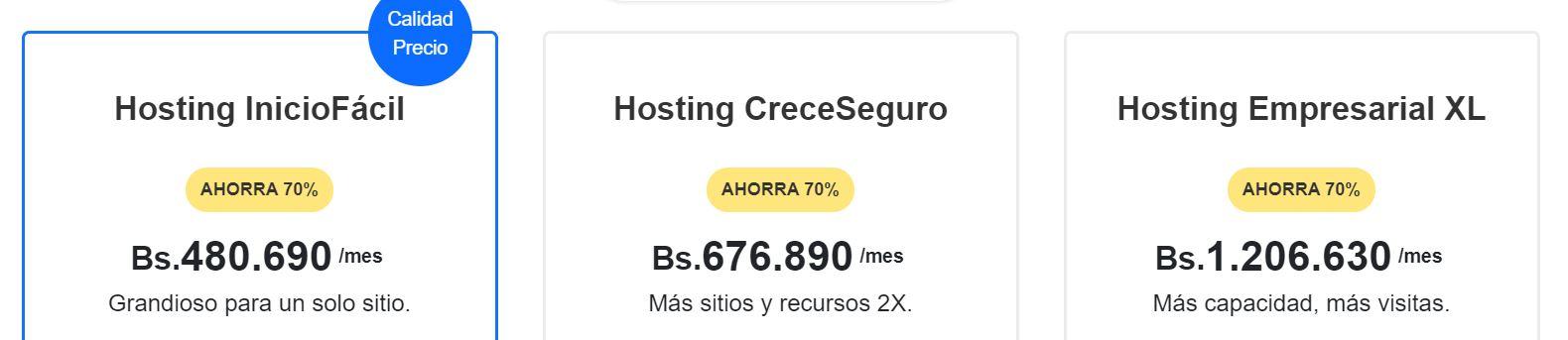 Los precios de los hosting Venezuela varían en función del plan que adquieras.