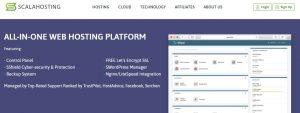 Scala hosting es una de las mejores opciones de hosting web del mercado.