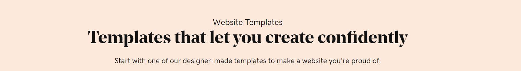 Existen diferentes plantillas hechas y disponibles para tu web en los website builders.