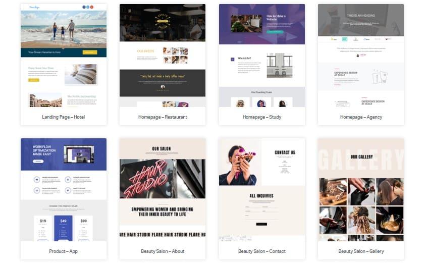 Elementor Website Builder Templates