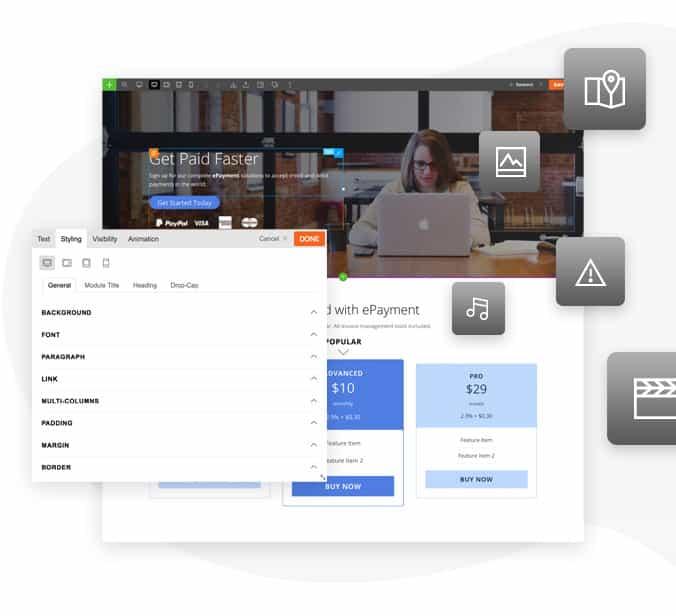 Themify Website Builder Widget