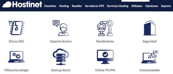 hostinet hosting configurar