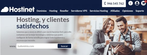 hostinet hosting servicio