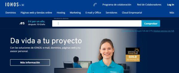 Ionos Hosting web descargar