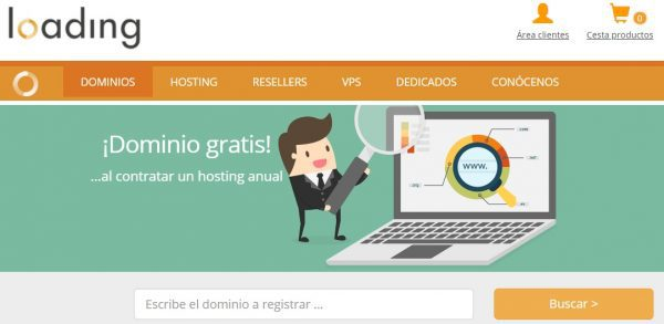 loading hosting dominios